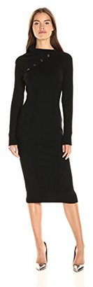 Guess Women's Long Sleeve Zeze Funnel Neck Sweater Dress $108 thestylecure.com
