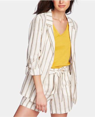 1 STATE 1.state Cabana Stripe Roll-Tab-Sleeve Blazer