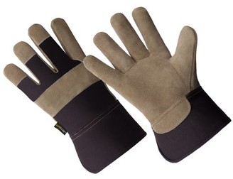 HANDS ONTM LP4321-L, Men's Cow Split Leather Palm Work Glove