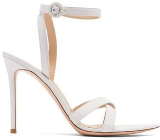 Gianvito Rossi Alixia 105 Leather Sandals - Womens - White