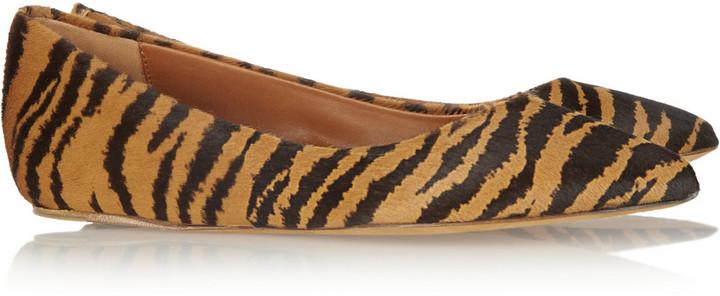 Mulberry Tiger-print calf hair ballet flats