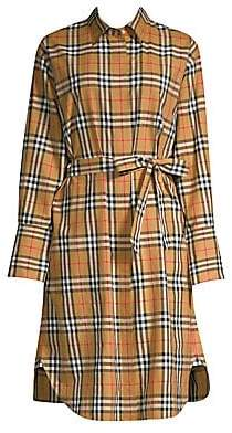 Burberry Women's Isotto Long Shirt Dress