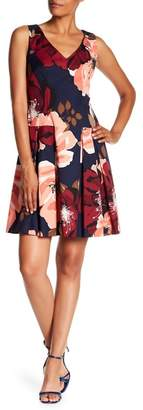 Trina Turk Devoted Floral Print Pleated Dress