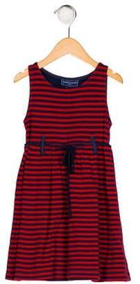 Papo d'Anjo Girls' Striped Sleeveless Dress