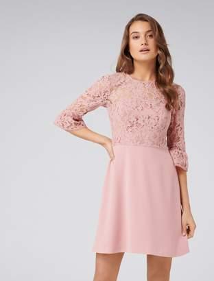 Forever New Lucinda Lace Bodice Dress - Robe Blush - 4
