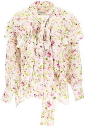 Faith Connexion Floral Silk Blouse
