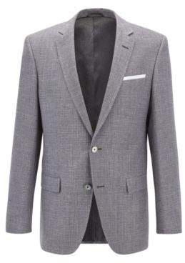 BOSS Hugo Basketweave Cotton Linen Sport Coat, Slim Fit Hutsons 36R Dark Grey
