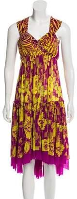 Jean Paul Gaultier Soleil Sleeveless Printed Dress