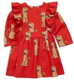 Mini Rodini Baby Girl's, Little Girl's& Girl's Spaniels Print Ruffle Dress