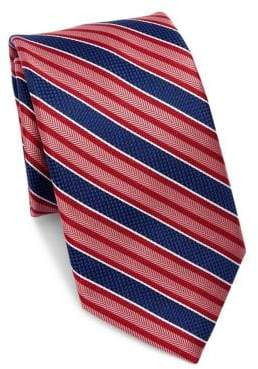 Saks Fifth Avenue COLLECTION Bold Stripe Silk Tie