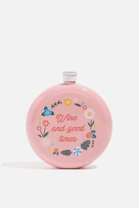 Skinnydip Skinny Dip Womens **Wine Times Hip Flask By Pink