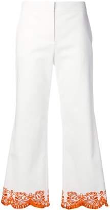 Emilio Pucci Cropped Sangallo Embroidered Trousers