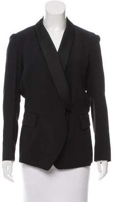 Saint Laurent Crepe Shawl-Lapel Blazer