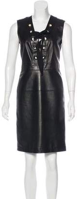 Gucci Leather Knee-Length Dress