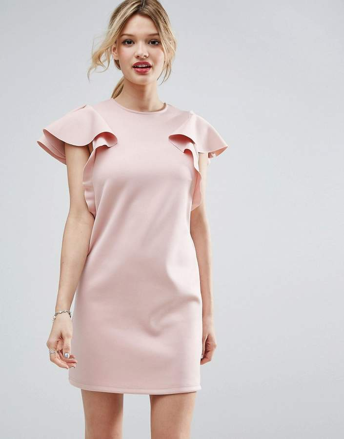 Asos ASOS Double Ruffle Sleeve Shift Dress