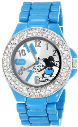 Disney Women's MK2077 Mickey Mouse Dial Blue Enamel Bracelet Watch