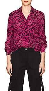 Robert Rodriguez Women's Leopard-Print Silk Blouse-Pink