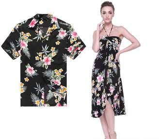 a009514b Hawaii Hangover Couple Matching Hawaiian Luau Cruise Party Outfit Shirt  Dress in Men M Women L