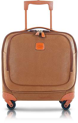 Bric's Life Camel Micro Suede Small Pilot Cabin Spinner