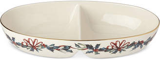 Lenox Winter Greetings Divided Oval Bowl