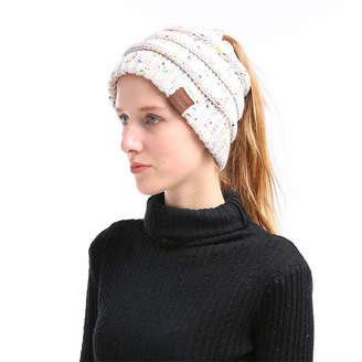 ba96c857de5 ALPSAZON Beanie Ponytail Hat for Women