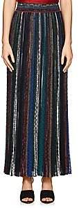 Missoni Women's Metallic Striped Long Skirt - Dk. Blue
