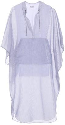 Brunello Cucinelli Striped cotton and silk kaftan