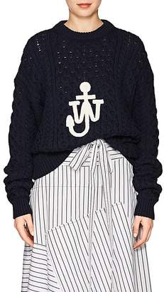 J.W.Anderson Women's Cable-Knit Cotton-Blend Sweater