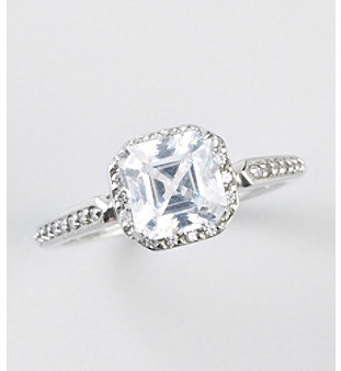 Swarovski Designs by FMC Zirconia Ice made with Zirconia Sterling Silver Ring