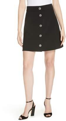 Kate Spade jewel button miniskirt