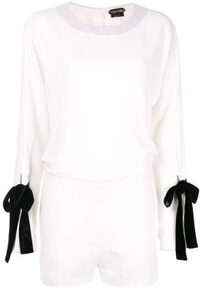 Tom Ford tied sleeve playsuit