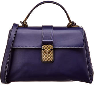 Bottega Veneta Piazza Small Leather Top Handle Tote