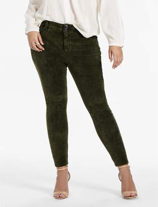 Lucky Brand Plus Size Emma Super Skinny Jean In Green Velvet