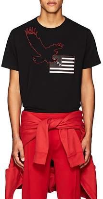 Marcelo Burlon County of Milan Men's Eagle-Flag Cotton T-Shirt
