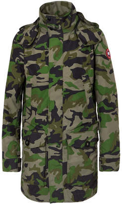 Canada Goose Crew Camouflage-Print Shell Jacket - Men - Army green