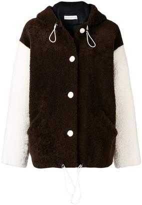 Inès & Marèchal contrasting sleeve shearling jacket