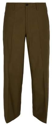 Marni Wide Leg Cotton Chino Trousers - Mens - Brown