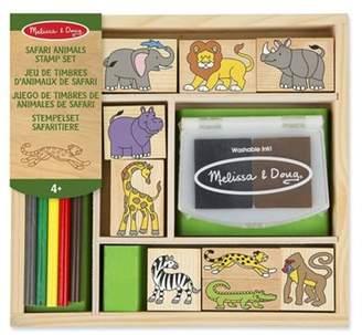 Melissa & Doug Wooden Stamp Set Safari Animals