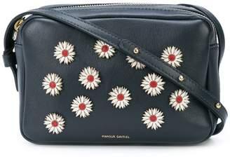 Mansur Gavriel Floral embellished double zip cross-body bag