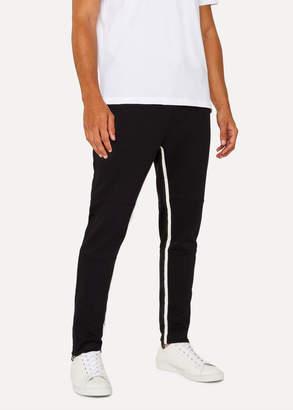 Paul Smith Men's Black Cotton-Viscose Panelled Stripe Sweatpants