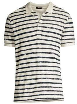 ATM Anthony Thomas Melillo Striped Polo Shirt