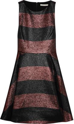 Alice + Olivia Alice + Olivia Metallic striped woven dress $597 thestylecure.com