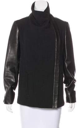 Helmut Lang Leather-Accented Jacket