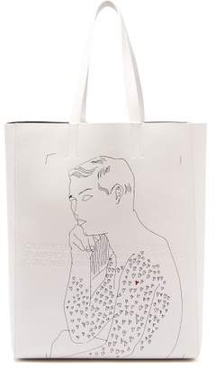 Calvin Klein X Andy Warhol Leather Tote Bag - Mens - White