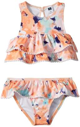 Janie and Jack Watercolor Floral Two-Piece Swim Set Girl's Swimwear Sets