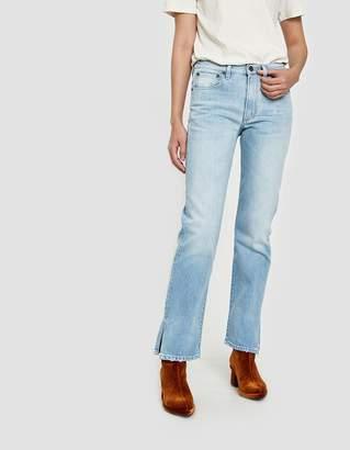 6397 Split Jean in Bleached