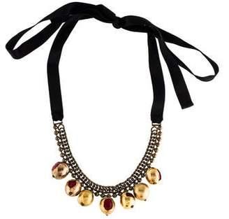 Marni Resin, Ribbon & Chain Statement Necklace
