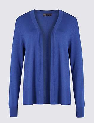 M&S Collection Open Front Long Sleeve Cardigan