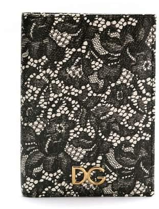 Dolce & Gabbana floral lace effect wallet