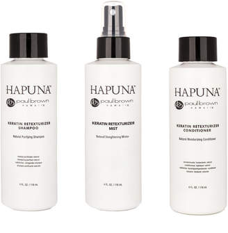 Paul Brown Hawaii Triple Play Smoothing 3-Step Keratin Treatment Pack (Shampoo, Conditioner, Straightening Mist)